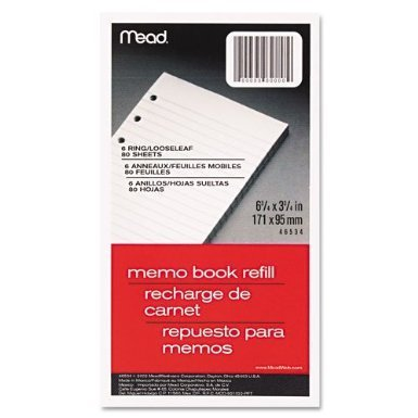 Meadwestvaco 46534 X 80 Count 3-3/4 X 46534 6-3/4 Memo Book Refill by Mead 0afbe6