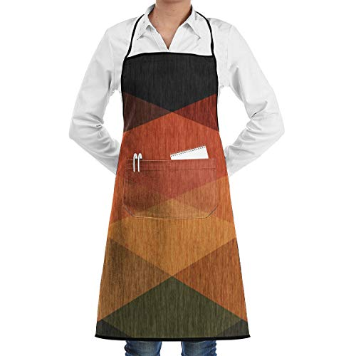 LALACO-Design Ethnic Abstract Cooking Women Kicthen Bib Aprons with Pockets for Chef,Grandma Suitable for Baking,Grilling,Painting Even Fit for Arts,Holiday -