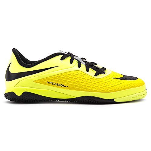 Nike Kids Jr Hypervenom Phelon IC Vibrant Yellow/Blk/Chrm/Vlt Ic Soccer Cleat 1.5 Kids US