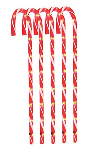 Sienna  E64H411R 26'' Lighted Candy Cane Pathway Markers