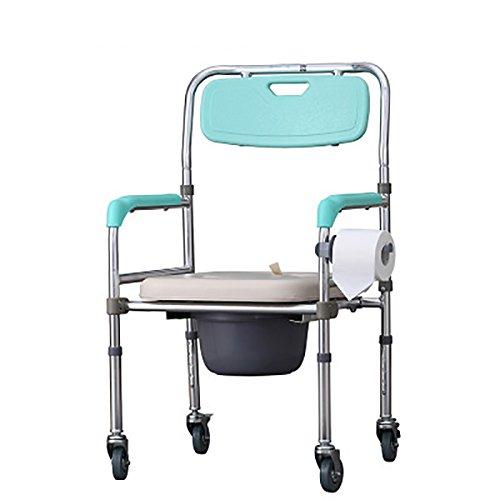 Mariny アルミ合金プーリーお座り議長は、障害者用トイレ付きバスチェアオールド妊婦の人々を折ります B07DCNHTJS
