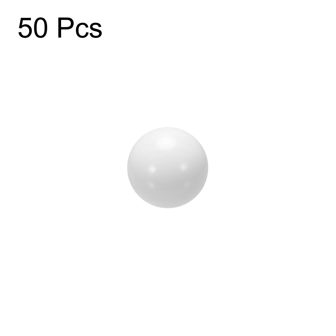 Plastic Bearing Ball 50pcs sourcing map 4.5mm POM Coin Ring Making Balls