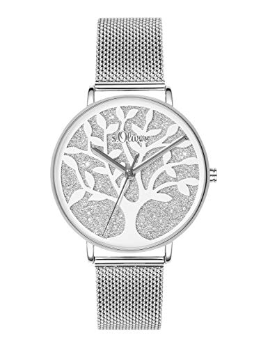 s.Oliver Time Womens Analogue Quartz Watch with Stainless Steel Strap SO-3595-MQ