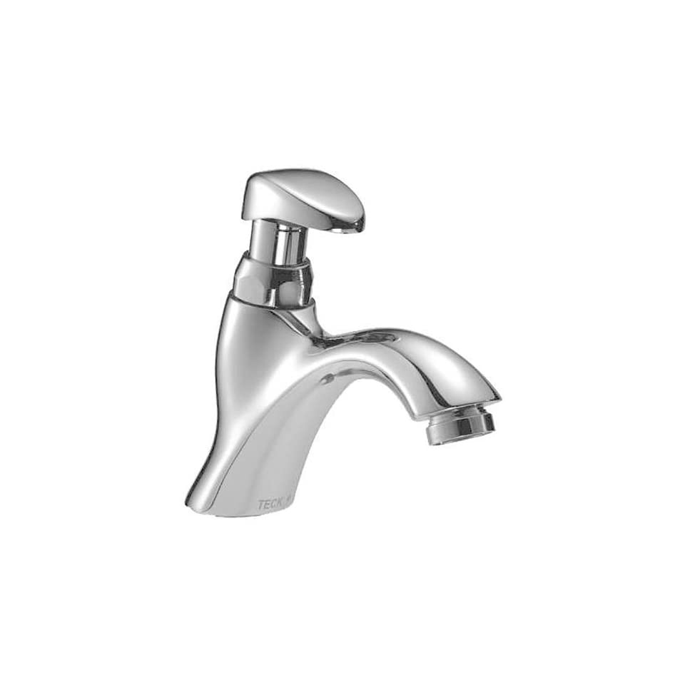 Delta Faucet 87T112 87T Single Hole Metering Slow Close Lavatory Faucet, Chrome
