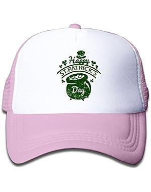 Happy Saint Patrick's Day Baby AdjustableTrucker Visor Cap Infant Trucker Hat