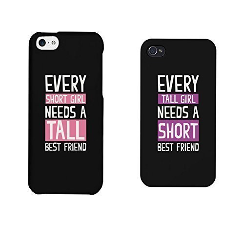 BFF Phone Cases Tall and Short Best Friend Phone Covers for iphone 4, iphone 5, Case Cover For Ipod Touch 5 iphone 6, Case Cover For Ipod Touch 5 Galaxy S3, Galaxy S4, Galaxy S5, HTC M8, LG G3