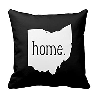 ArtoutletMF Ohio Home State 8962 Polyester Square Decorative Throw Pillow Case Cushion Cover 18 X 18