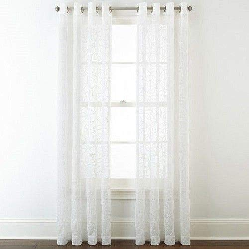 JCPenney Home Quinn Basketweave Grommet-Top Patio Panel 100