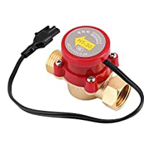 1 pc Magnetic Wate Flow Sensor Switch Pipe Boosting Pump Laser Machine Automatic Electronic Switch Control for Shower Low Water Pressure Solar Heater Water Circulation G1/2 Thread