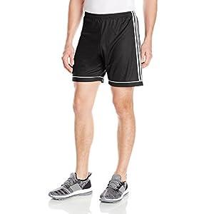 adidas Men's Soccer Squadra 17 Shorts, Black/White, Large