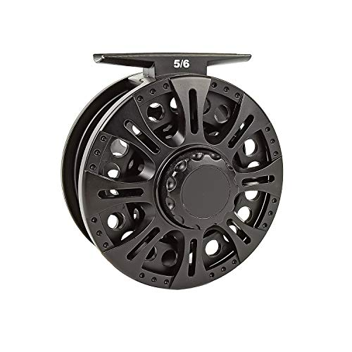 (Aventik Z Fly Reel Center Drag System Classic III Graphite Large Arbor Sizes 3/4, 5/6, 7/8 Fly Fishing Reels (7/8))