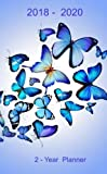 #7: 2- Year Planner. 2018 -2020: Academic Pocket Monthly Planner: 24-Month Calendar (August 2018 - July 2020), Notes and Phone book, U.S. Holidays, Size : ... Notebook ( Beautiful Blue Butterflies )