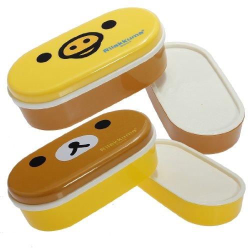 Bento Lunchbox / Essensbehälter / Dose, stapelbar, mit Essstäbchen Beer