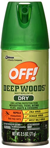 - Off! Deep Woods Dry Aerosol Insect Repellant, 2.5 Ounce (2 Count)