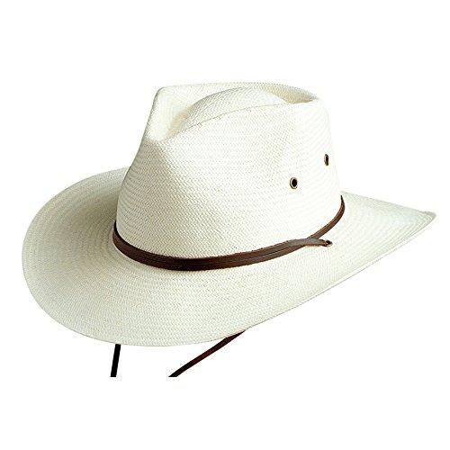 Conner Hats Men's Outback Ranger Straw Mens Hat, Ivory, (Outback Paper)