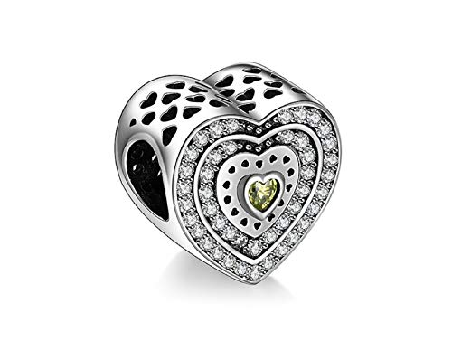 - EVESCITY Many Styles Silver Pendents 925 Sterling Beads Fits Pandora, Similar Charm Bracelets & Necklaces (Classic Gold Murano Glass Openwork)