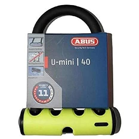 Abus antirrobo bicicleta Mini U 40/130 hb140 - amarillo: Amazon.es ...