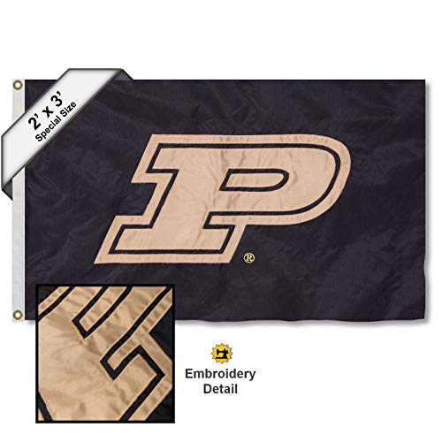 College Flags and Banners Co. Purdue Boilermakers 2x3 Foot Embroidered Nylon Flag