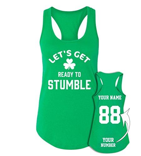 Stumble Custom Jerseys St Patrick's Day Tank Tops - Saint Pattys Outfits -