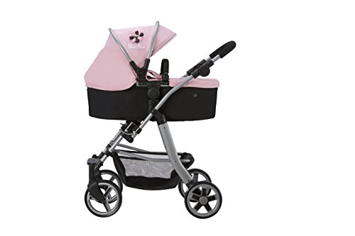 Silver Cross Pioneer 5 In 1 Dolls Pram Vintage Pink Fabric Amazon