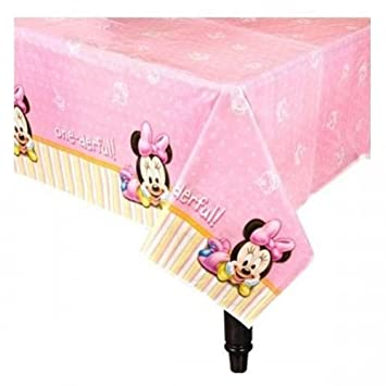 Amazon.com  Baby Minnie Mouse 1st Birthday Table Cover 54 x 96 Party Supplies Decoration  Baby  sc 1 st  Amazon.com & Amazon.com : Baby Minnie Mouse 1st Birthday Table Cover 54 x 96 ...