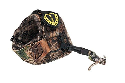 (TruFire Hardcore Buckle Foldback, Max Adjustable Archery Compound Bow Release - Plush Camo Buckle Wrist Strap with Foldback Design)