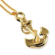 My Us-DeSiGn_CA: Vintage Navy Anchor Necklace Women /Men Jewelry 18K Real Gold Plated European Viking Jewelry
