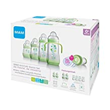 MAM Anti-Colic Self-Sterilising Bottle Starter Set (Green)