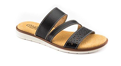 tiglio Pantofole Donna 4222MF Nero Memory Foam (38)