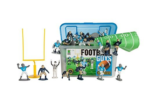 Kaskey Kids Football Guys - Inspires Imagination with endless hours of creative, open-ended play - Includes 2 Full Teams and Accessories. Fun way to teach the rules of the game. 25+ pieces. Ages 3+ -