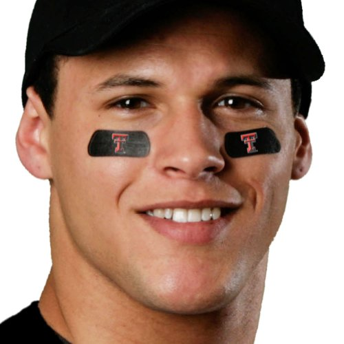 (24 Strips) Texas Tech Red Raiders Eye Black Anti Glare Stickers, Great for Fans & Athletes on Game Day Raiders Eye