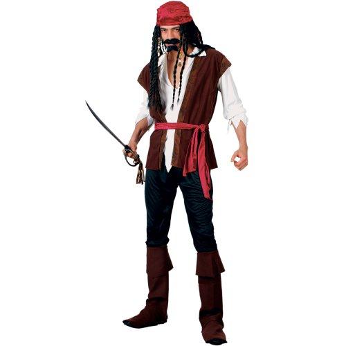 Pirates Caribbean Costumes Uk (Mens Caribbean Pirate Fancy Dress Costume)