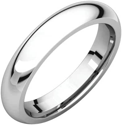 Platinum 4mm Comfort Fit Band, Ring Size 8.5