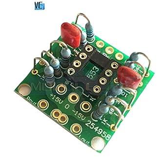 Amazon com: Dual OP Amp Board Preamp DC Amplification PCB for NE5532