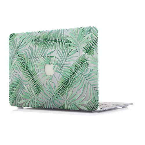 MacBook Air 13 Inch Hard Case - L2W Plastic Laptop Accessories Sleeves Protective Pattern Printing Design Cover For Apple MacBook Air 13 Inch Model A1466/A1369,Fern moss ()
