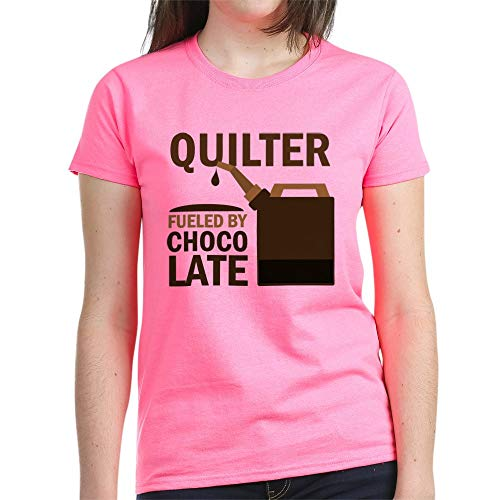 CafePress Quilter Fueled by Chocolate T Shirt Womens Cotton T-Shirt
