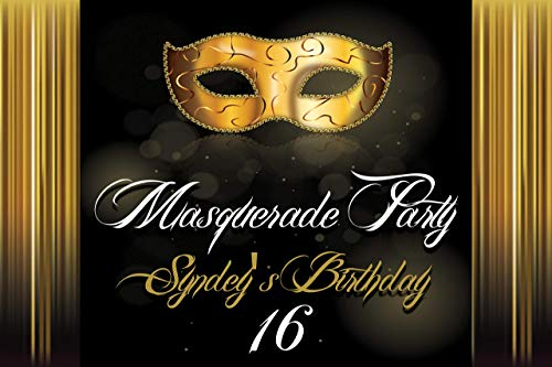 Custom Masquerade Mask - Masks Masquerade Birthday, Custom Banner and Signs, masks Banner, Gold and Black Wall Decor wall poster Handmade Party Supplies, Personalized party banner Mardi Gras, Sizes 36x24, 48x24, 48x36