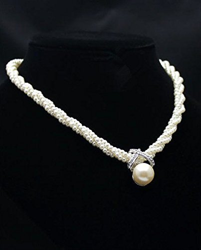 Fashion Women's Chain Choker Chunky Pearl Statement Bib Pendant Necklace Jewelry nn (80s Guys Costume)