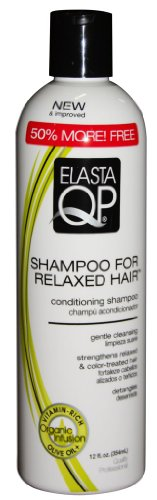 Elasta QP Shampoo for Relaxed Hair, 12 Ounce