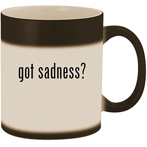 - got sadness? - 11oz Ceramic Color Changing Heat Sensitive Coffee Mug Cup, Matte Black