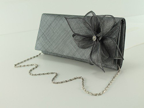 Bag Diamante Elegance Slate Collection Occasion Sinamay qI0wEFxwpU
