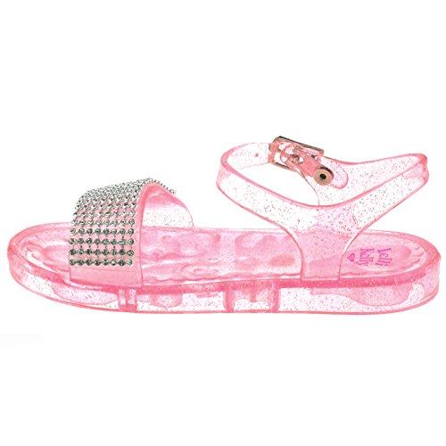 Lelli Kelly LK4914 (AD89) Strawberry Seychelles Diamante Jelly Sandals -24 (UK 6.5)