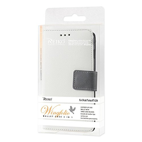Reiko 3 in 1 Wallet Case with Interior Leather-Like Material and Polymer Cover for