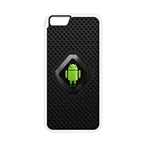 Android Logo Computer iPhone 6 Plus 5.5 Inch Cell Phone Case White 6KARIN-318432