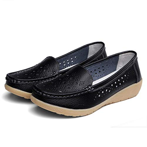 Clogs Bottom Loafers Women Shoes Soft Boat Wedges Casual Slip Black Comfortable Summer Platform Peas Outdoor On RqwAzBw