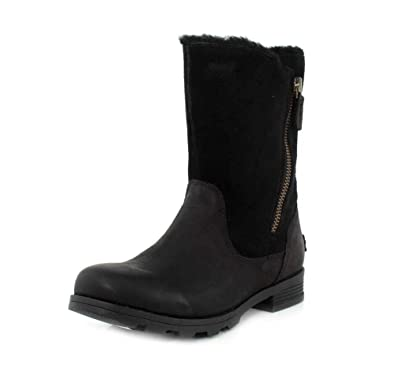 724c26a7017c79 SOREL Womens Emelie Foldover Fleece Winter Snow Waterproof Mid Calf Boot -  Black - 5