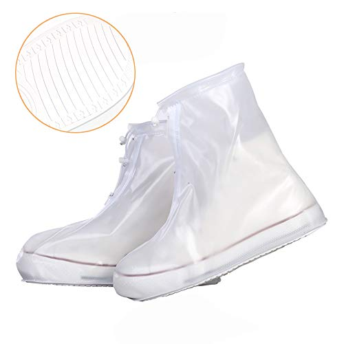 Shiwely Shoes Cover Waterproof Sand Control Non-Slip Shoes Cover Reusable Rain Snow Boots Overshoes for Cycling Outdoor Camping Fishing Garden Travel Women Men (XXXL(Women 12-14 Men 10-13), White) (Best Waterproof Shoes For Travel)