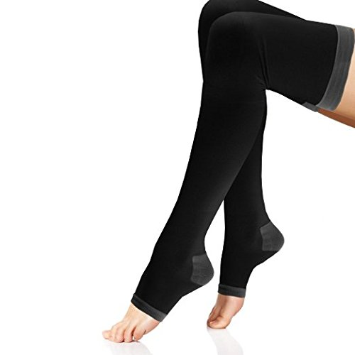 Women's Overnight Compression Thigh Highs (One Pair)