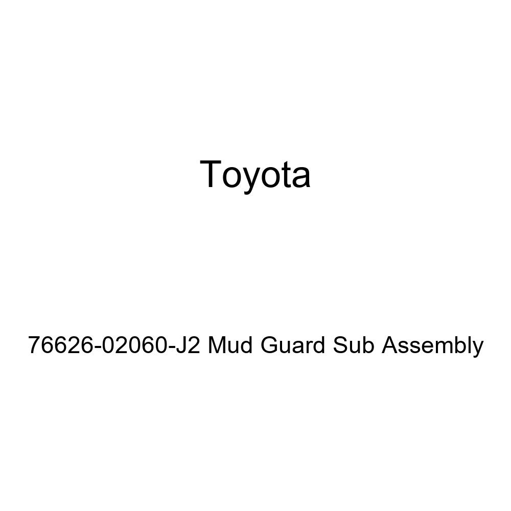 TOYOTA Genuine 76626-02060-J2 Mud Guard Sub Assembly