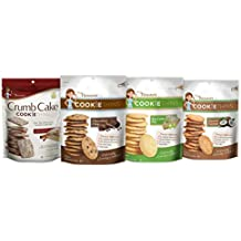 Mrs. Thinsters Cookie Thins Variety Pack, Chocolate Chip, Toasted Coconut, Crumb Cake Cinnamon, Key Lime Pie, 4 Count
